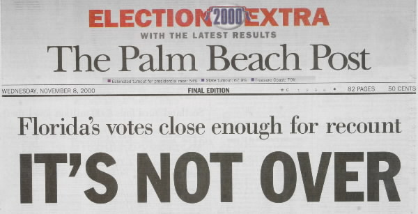 Florida's recount woes.